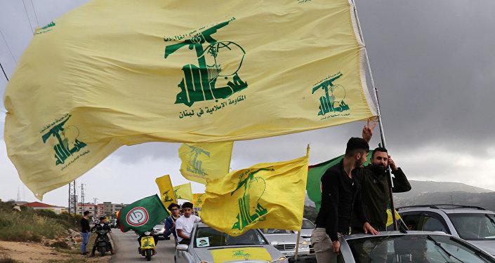 Des partisans du mouvement chiite libanais Hezbollah