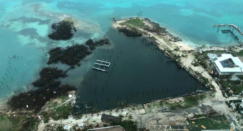 Vue sur l'île Great Abaco après l'ouragan Dorian