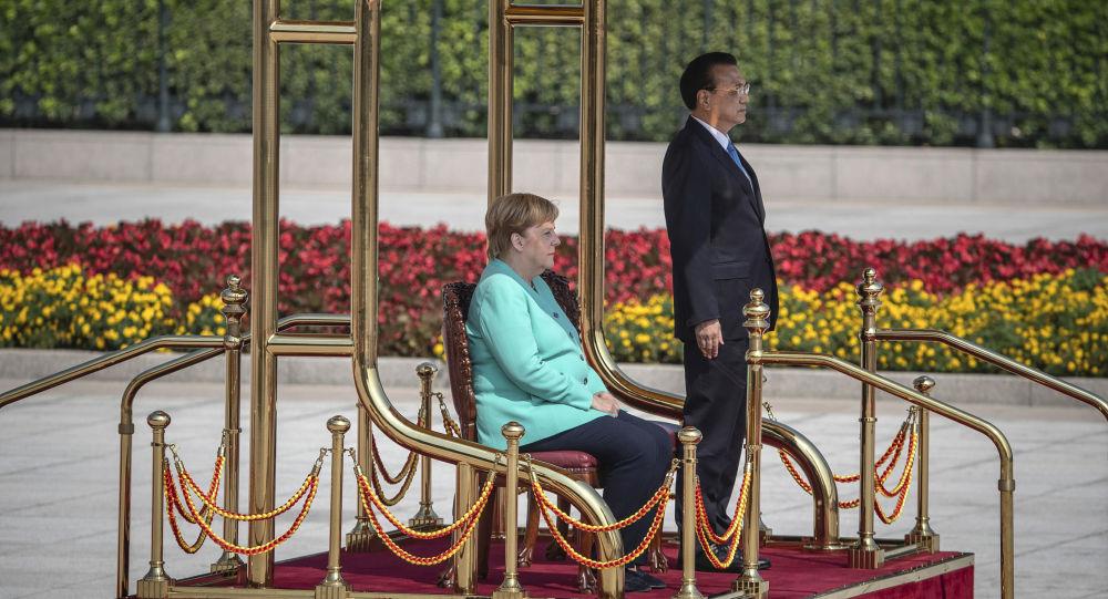 Li Keqiang et Angela Merkel à Pékin, le 6 septembre 2019