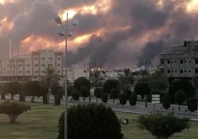Incendie à la raffinerie Saudi Aramco à Abkaïk , 14.09.2019