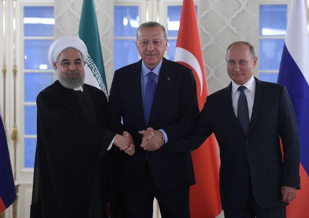 Rohani, Erdogan et Poutine à Ankara, le 16 septembre 2019
