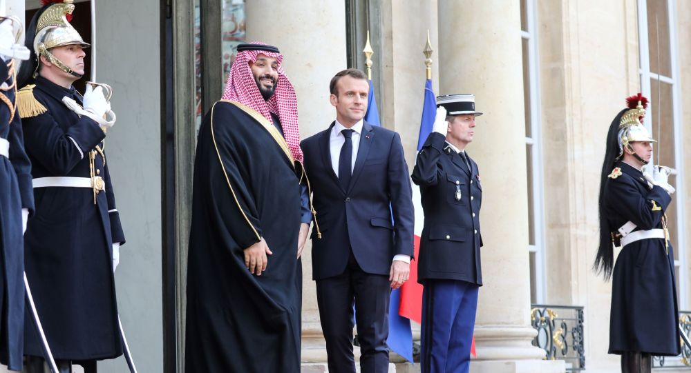 Mohammed ben Salmane et Emmanuel Macron