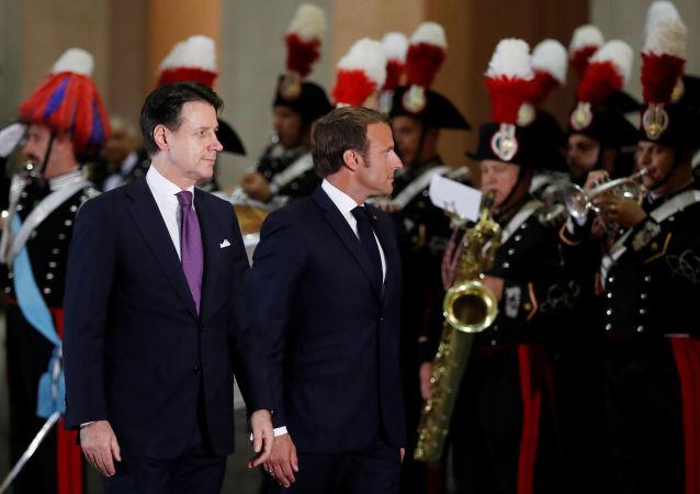 Emmanuel Macron et Giuseppe Conte