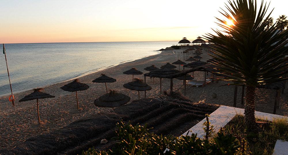Une plage à Hammamet