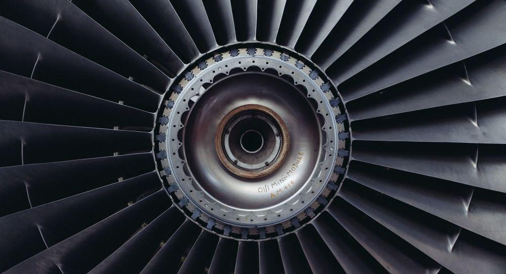 Moteur d'avion (image d'illustration)