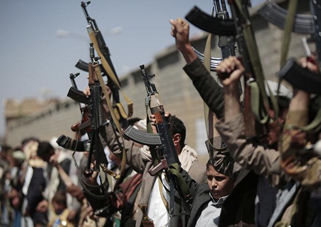 Un rassemblement de soutien aux Houthis au Yémen (archive photo)