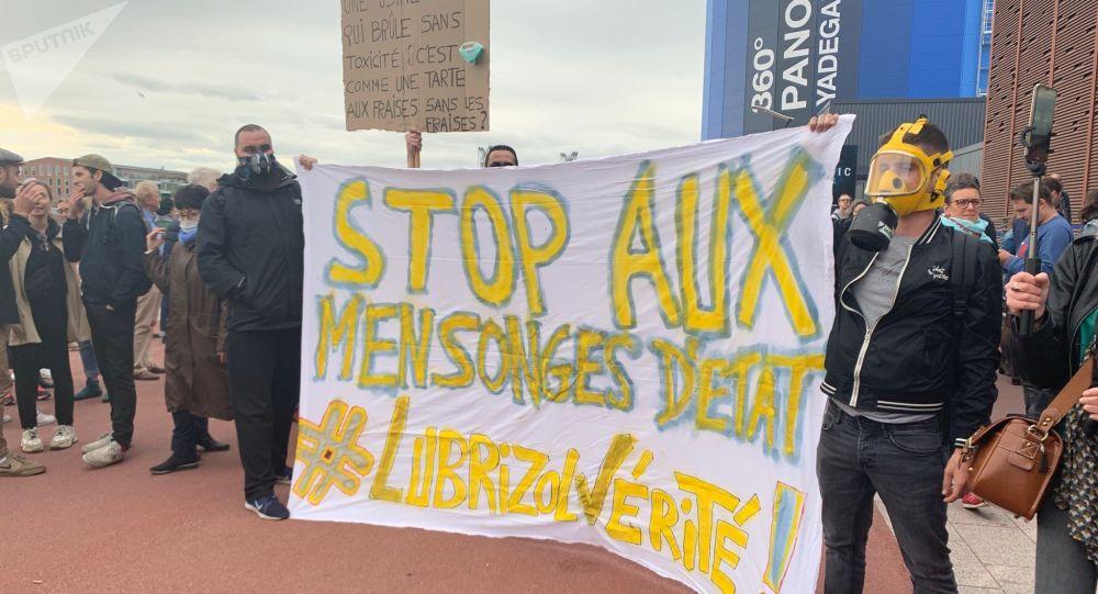 Rouen: manifestation des habitants après l'incendie de Lubrizol