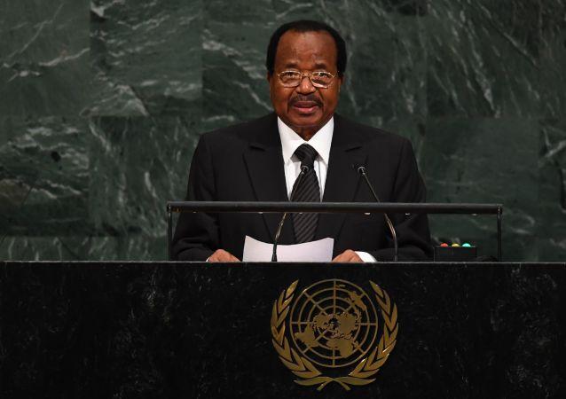 Le Président du Cameroun Paul Biya à la tribune de l'ONU