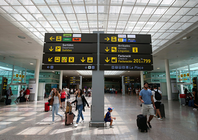 A l'aéroport de Barcelone