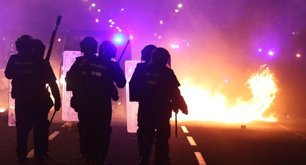 nuit de violences en Catalogne