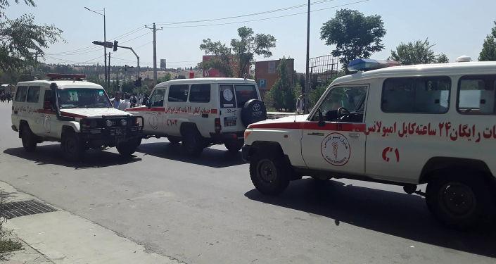 Ambulances afghanes, image d'illustration