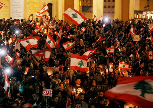 Une manifestation au Liban