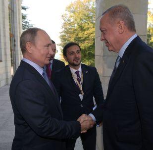 Poutine et Erdogan à Sotchi, le 22 octobre 2019