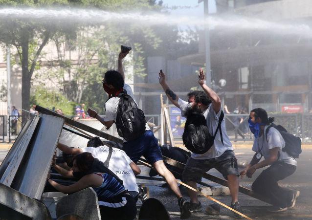 Manifestations contre le gouvernement chilien à Santiago