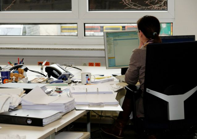 Travail de bureau (image d'illustration)