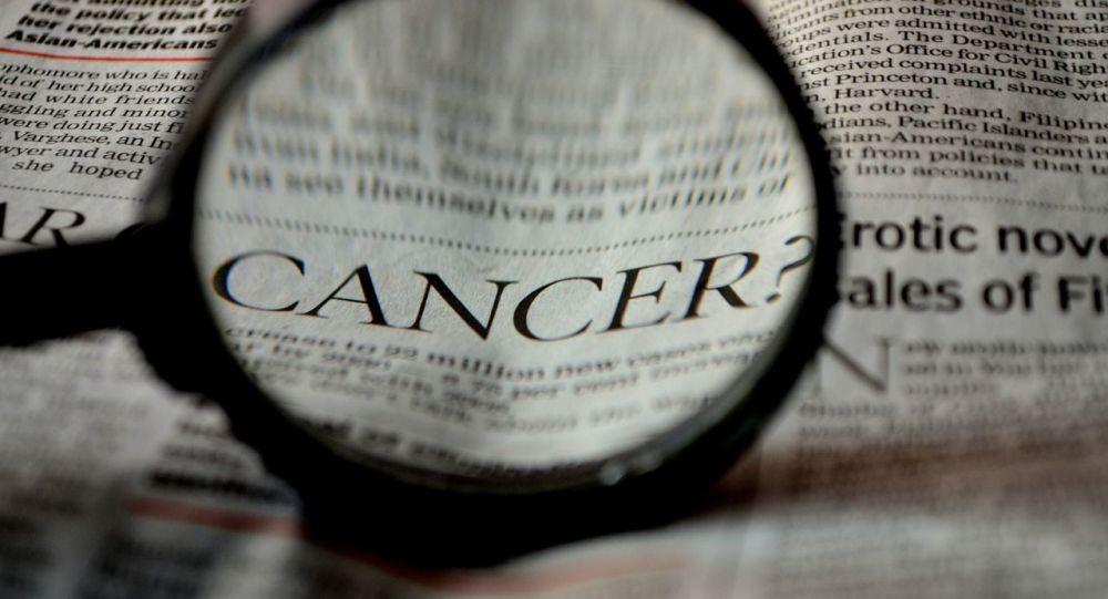 Inscription «cancer» dans un journal