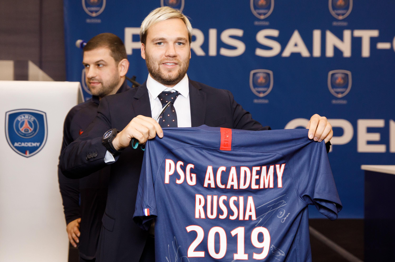 Directeur général de l'académie du Paris Saint-Germain à Moscou Denis Maryenko