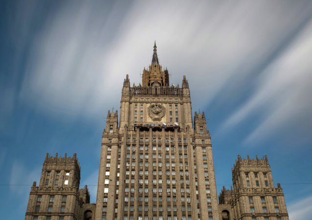 Le bâtiment du ministère des Affaires étrangères de Russie