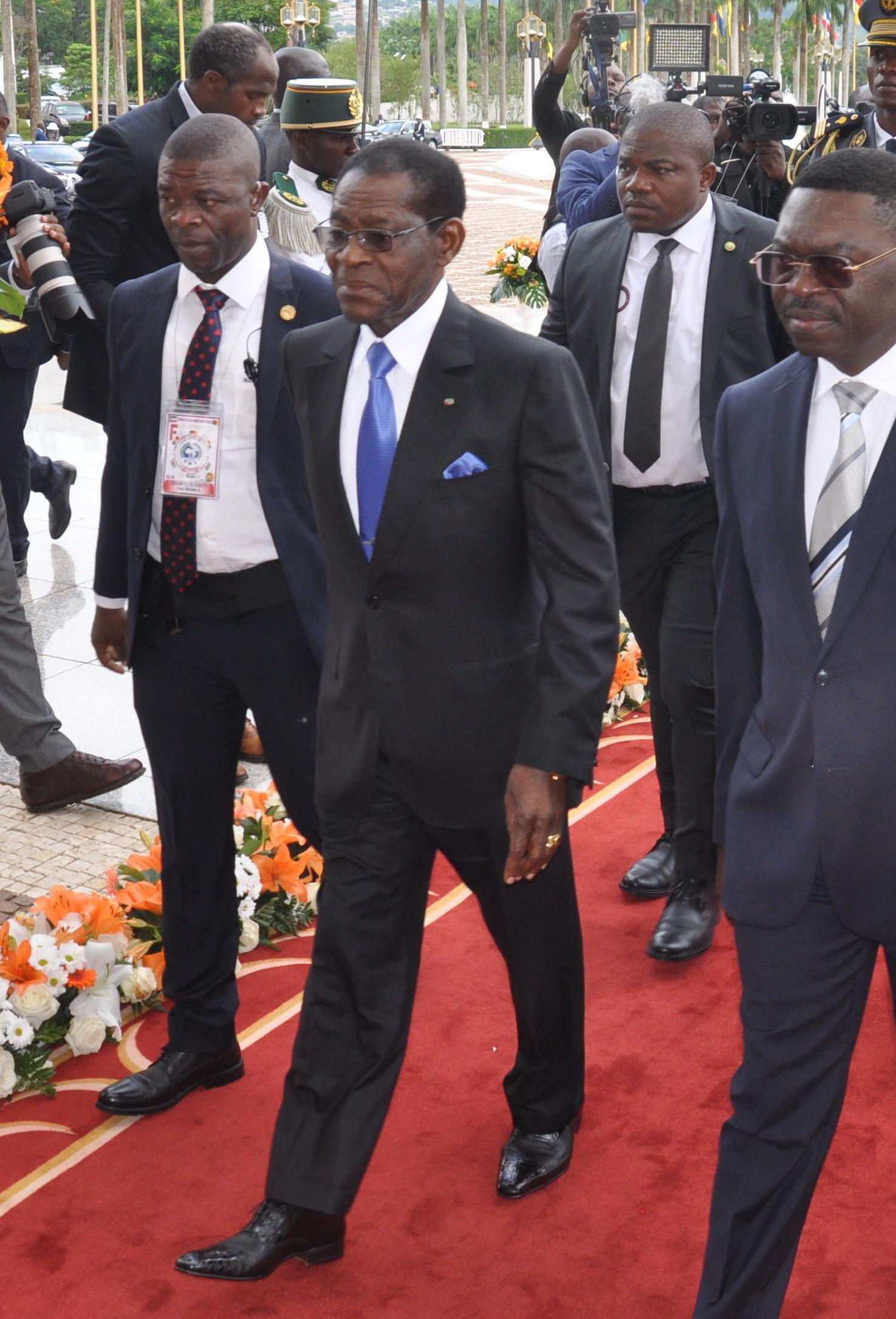 Le Président équatoguinéen Teodoro Obiang Nguema au sommet extraordinaire de la Cemac.