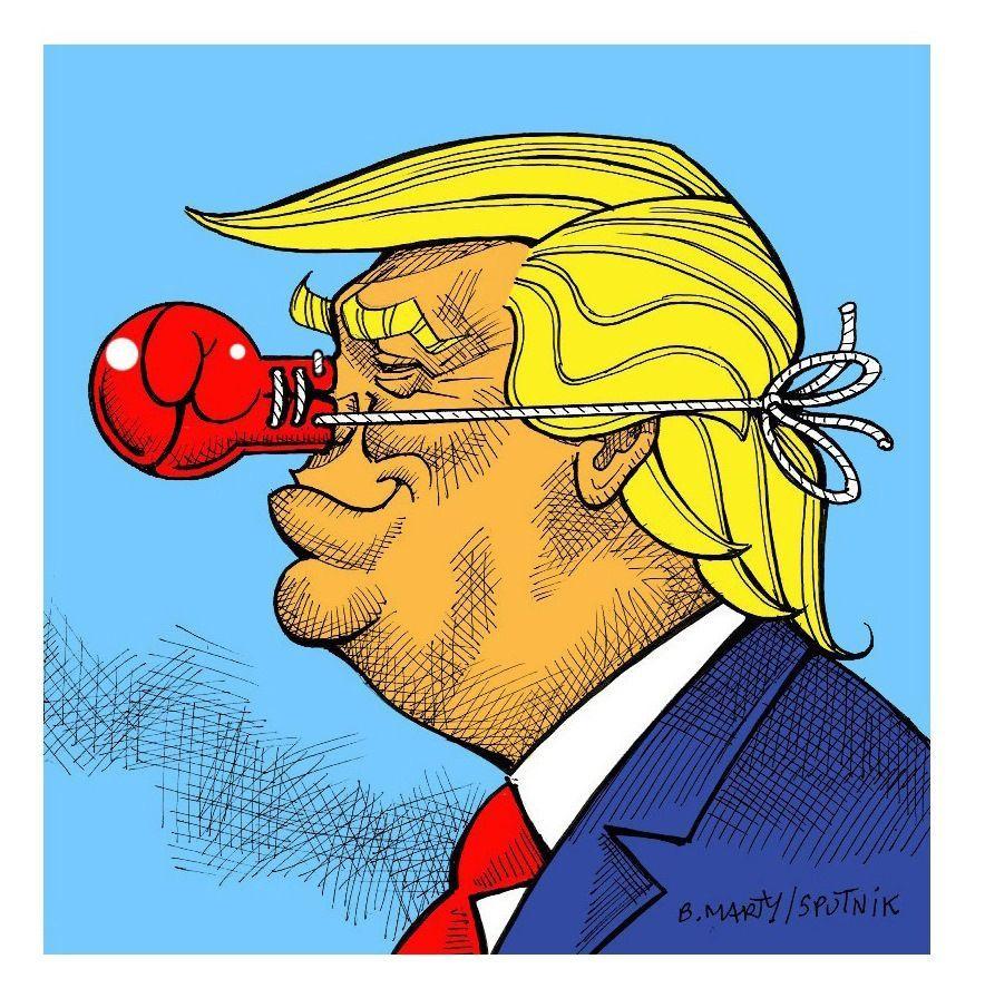 Donald Trump dans la peau de Rocky vu sous un autre angle
