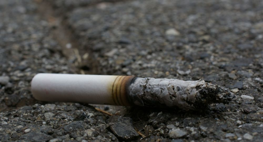 Un mégot de cigarette