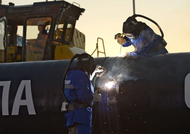 Le gazoduc Force de Sibérie