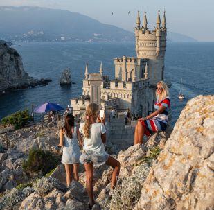 Le château du Nid d'hirondelle à Ialta, en Crimée