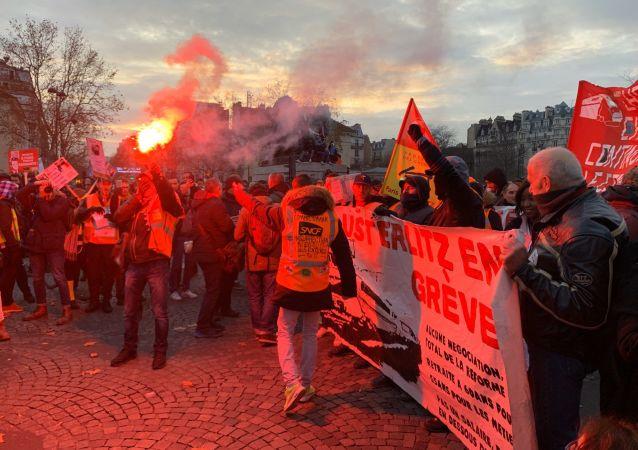 La grève générale à Paris, 10 décembre 2019