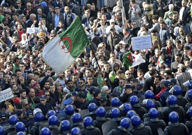 Une manifestation anti-élection à Alger, 11 décembre 2019