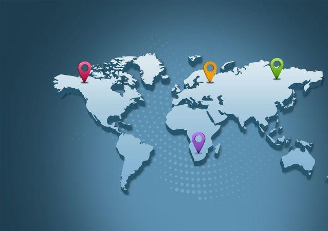 Carte du monde, image d'illustration