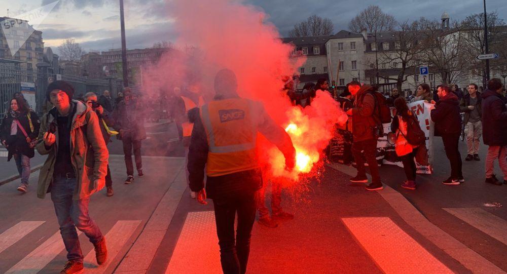 Manifestation contre la réforme des retraites à Paris, 19 décembre 2019