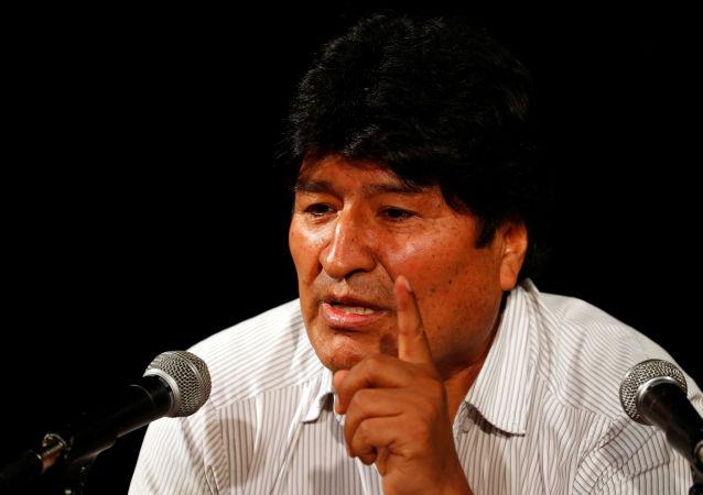 Evo Morales lors d'une conférence de presse à Buenos Aires