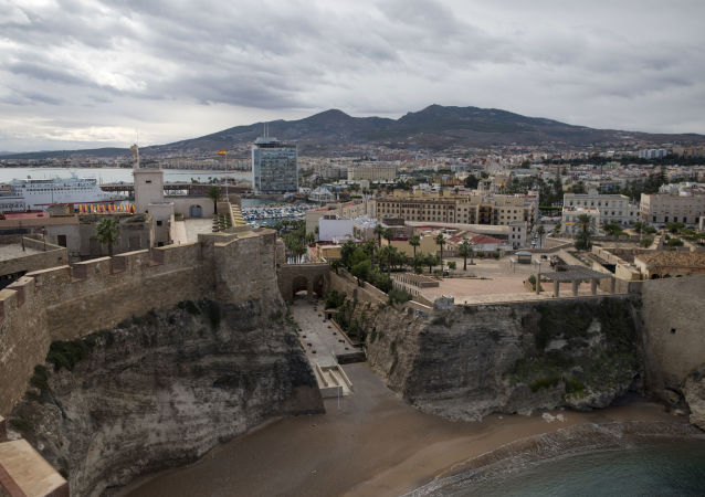 This picture, taken on October 31, 2018, shows a general view of the XVI-XVII century fortress known as Melilla la Vieja (The Old Melilla) located in the port of the Spanish enclave of Melilla. (Photo by JORGE GUERRERO / AFP)
