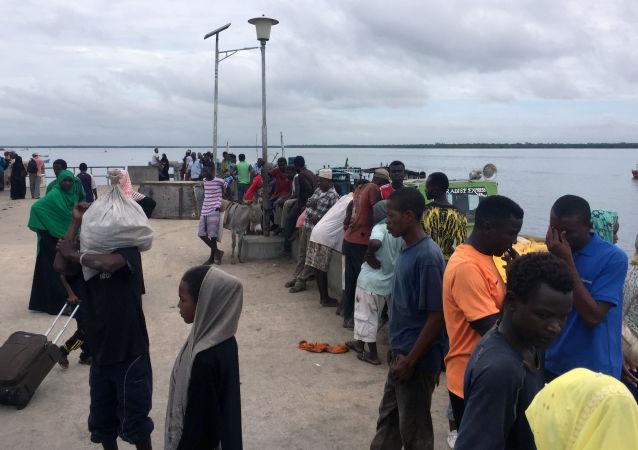 Lamu après une attaque contre une base militaire US