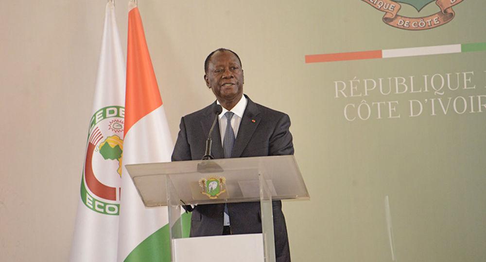 Le Président de la République ivoirien Alassane Ouattara, lors de la cérémonie de présentation de vœux du Nouvel An 2020.