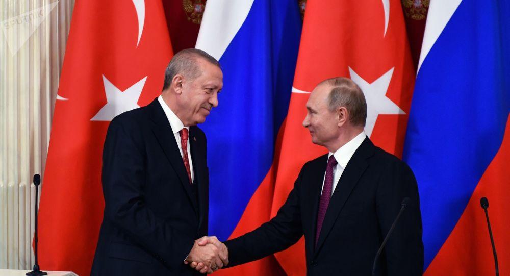 Vladimir Poutine et Recep Tayyip Erdogan, le 23 janvier 2019