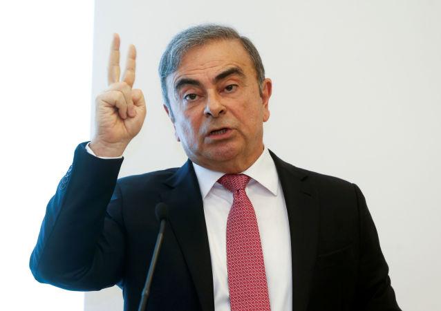 Carlos Ghons lors de sa conférence de presse à Beyrouth, le 8 janvier 2020