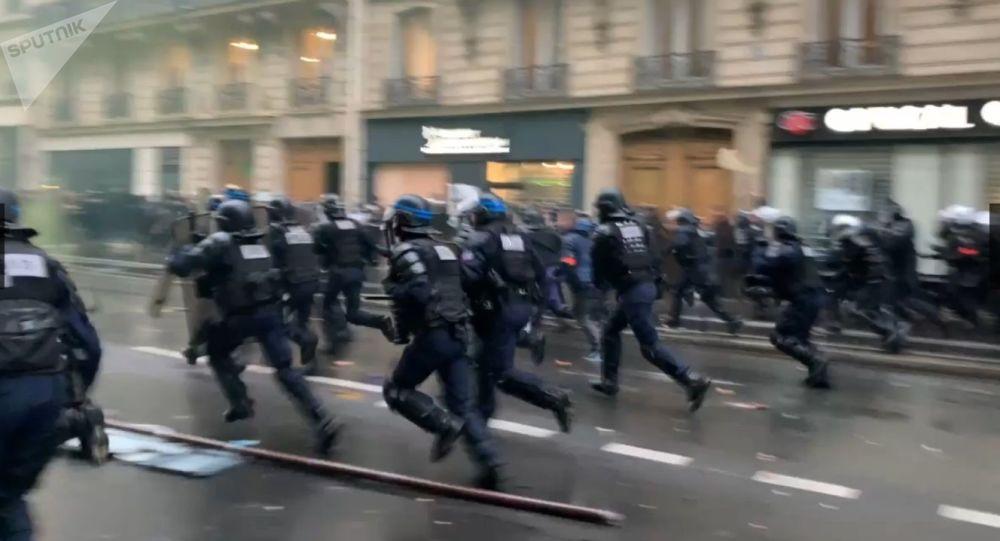 Manifestation contre la réforme des retraites, 9 janvier 2020 (image d'illustration)
