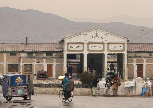 Station Quetta au Pakistan