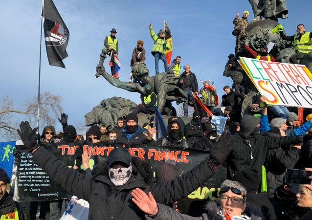 Protestations contre la réforme des retraites à Paris