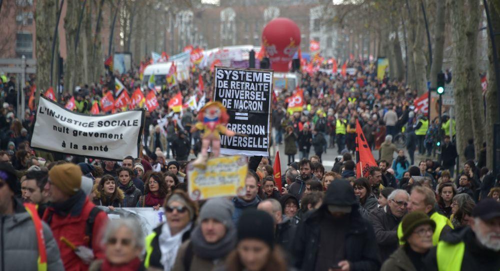 manifestation contre la réforme des retraites à Toulouse