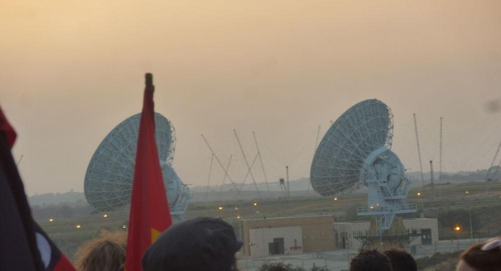 Militants du mouvement No MUOS près de la base aérienne US de Sigonella, en Sicile (photo d'archives)