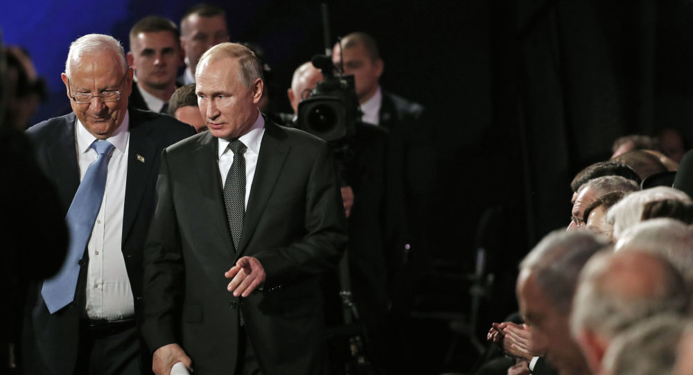 Vladimir Poutine à Jérusalem