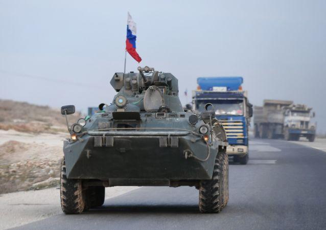 Une patrouille de la police militaire russe en Syrie (archive photo)