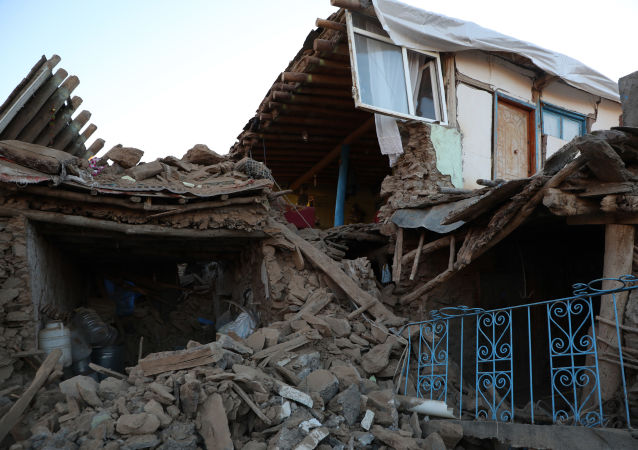 Un village complètement détruit par le séisme en Turquie
