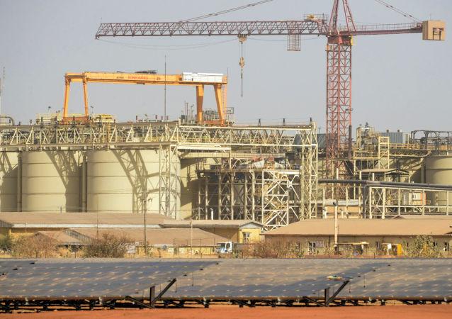 La mine d'extraction aurifère du canadien IamGold à Essakane, au Burkina Faso.