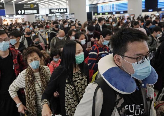 une gare de Hong Kong