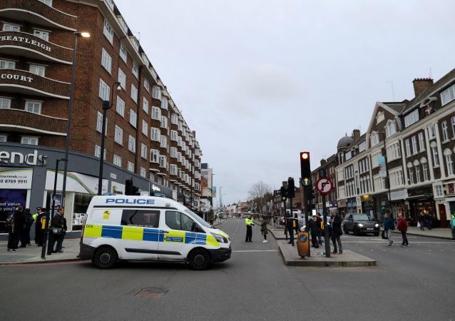 La police britannique à Streatham, dans le sud de Londres