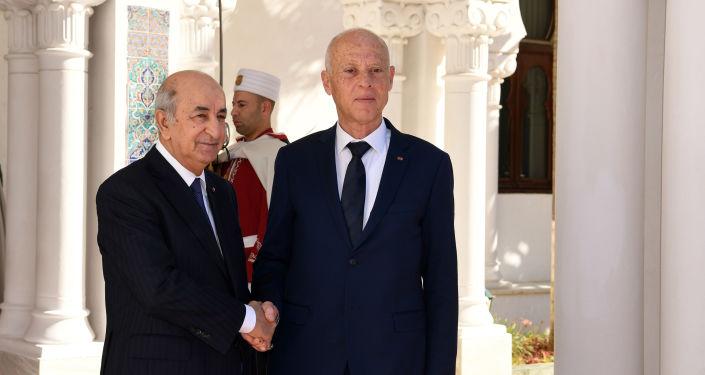 Le Président algérien Abdelmadjid Tebboune et son homologue tunisien Kaïs Saied