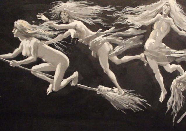 Eugène Frey, Études pour les décors lumineux de la Damnation de Faust/ Mefistofele, ca. 1905